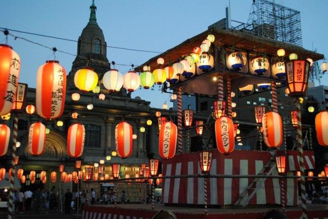 tsukiji Hongwan-ji bon festival